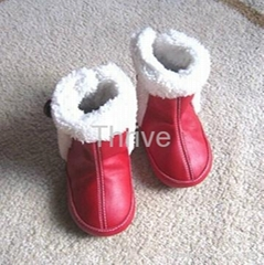 Baby soft sole leather boot infant toddler warm shoes