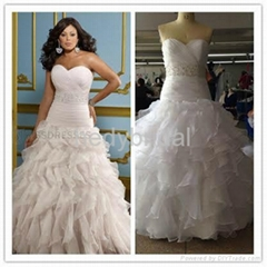 sweetheart beads plus size wedding gown