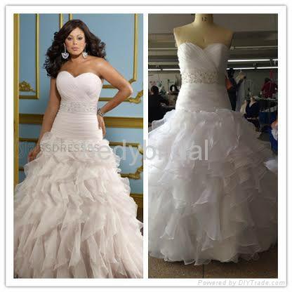 sweetheart beads plus size wedding gown hand ruffles 1