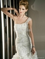 slimming fitted mermaid fit and flare applique wedding dress wedding gown 3