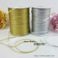 decorative double face gold metallic ribbon