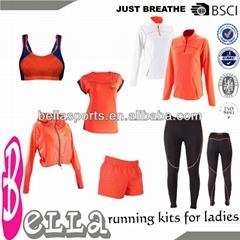 latest fluorescent active wholesale running wear yoga pants fitness sportswear w