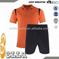 Wholesale Blank Soccer Uniforms for Kids with      Collar 1