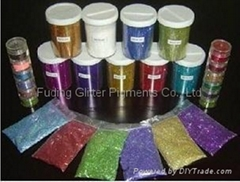 SOLVENT RESISTANCE GLITTER POWDER, HOLOGRAPHIC EFFECT, RAINBOW EFFECT