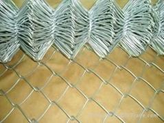 ga  anized chain link fence