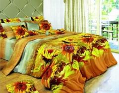 100% cotton bedding set rotary