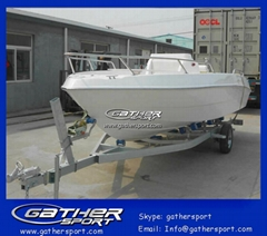 Factory hot sale 18ft frp center console fishing boat