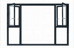 HT65 break aluminium Casement window