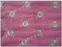 Mesh embroidery lace fabric