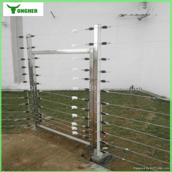 Electric fence system for residential area home security