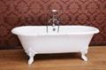 Dual cast iron bathtub