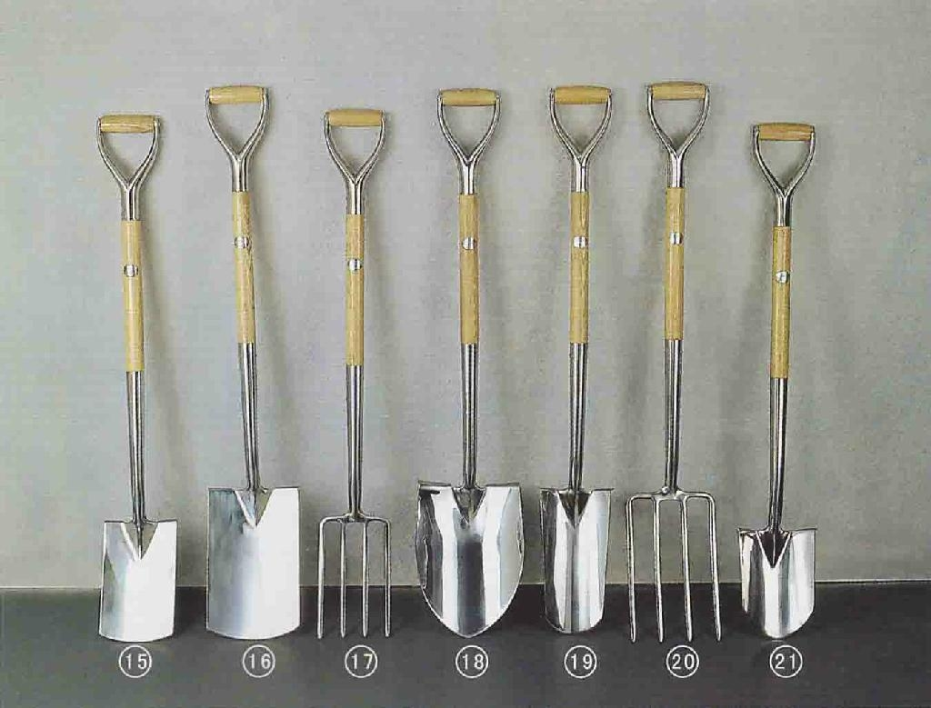 Garden tools stainless spade and fork china manufacturer for Gardening tools list with pictures