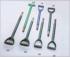 garden tools spade and fork handle