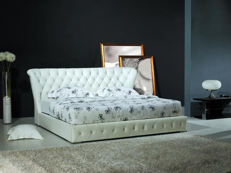 White Leather Headboards for King Size Beds 800 x 600