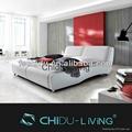 modern bedroom furniture leather bed 1