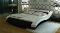 modern bedroom furniture leather bed 4