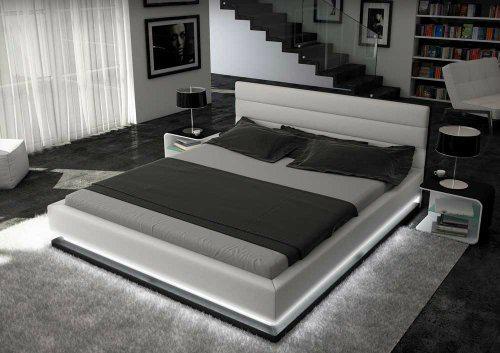 modern bedroom furniture leather bed 5