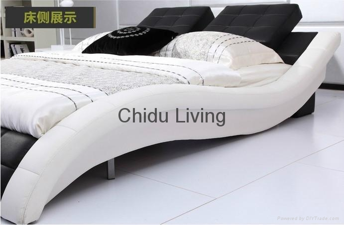 modern kids leather bed girls leather bed 4