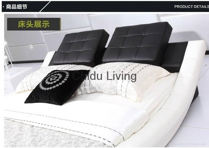 modern kids leather bed girls leather bed 5