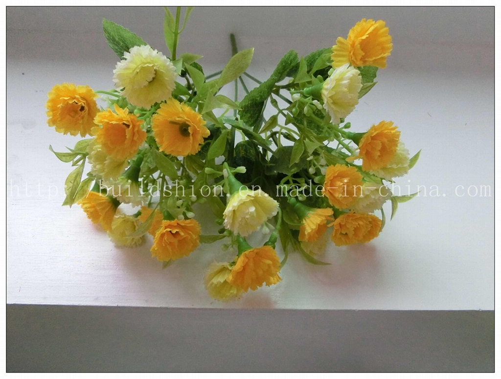 Decoration Artificial Silk Flower Bouquet Bh51010 No China