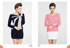 Modern casual ladies fashion korean cashmere sweater