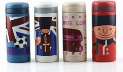 The British style cartoon of stainless steel vacuum thermos cup