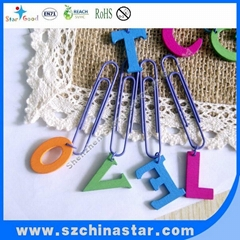 Metal material logo customized shape paper clip