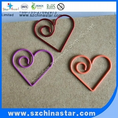 Stargood supplier fancy pig shape paper clip PET coate iron wire