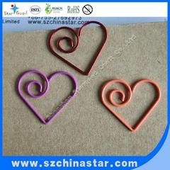 Stargood supplier fancy pig shape paper clip PET coate iron wire