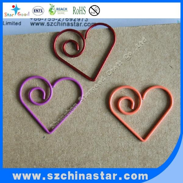 Stargood supplier fancy pig shape paper clip PET coate iron wire 1