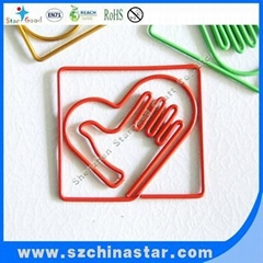 Green cute circle pvc paper clip