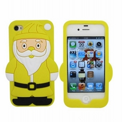 Hot Sell Christmas Gift Silicone Phone Case (BS-02-01)