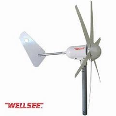 6 blades permanent magnet horizontal axis wind generator