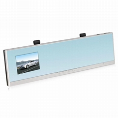 Rear view mirror car camera recorder with two lens