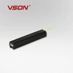 2013 new patent mobile power bank 2200mah with green laser pointer