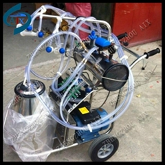single bucket vacuum pump type milking machine for cow goat