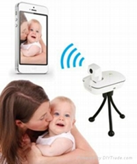 Wifi Video Camera for Remote viewing with iphone and Android Smartphones