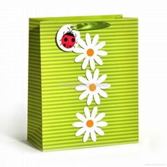 High quality flower paper bag with 3D