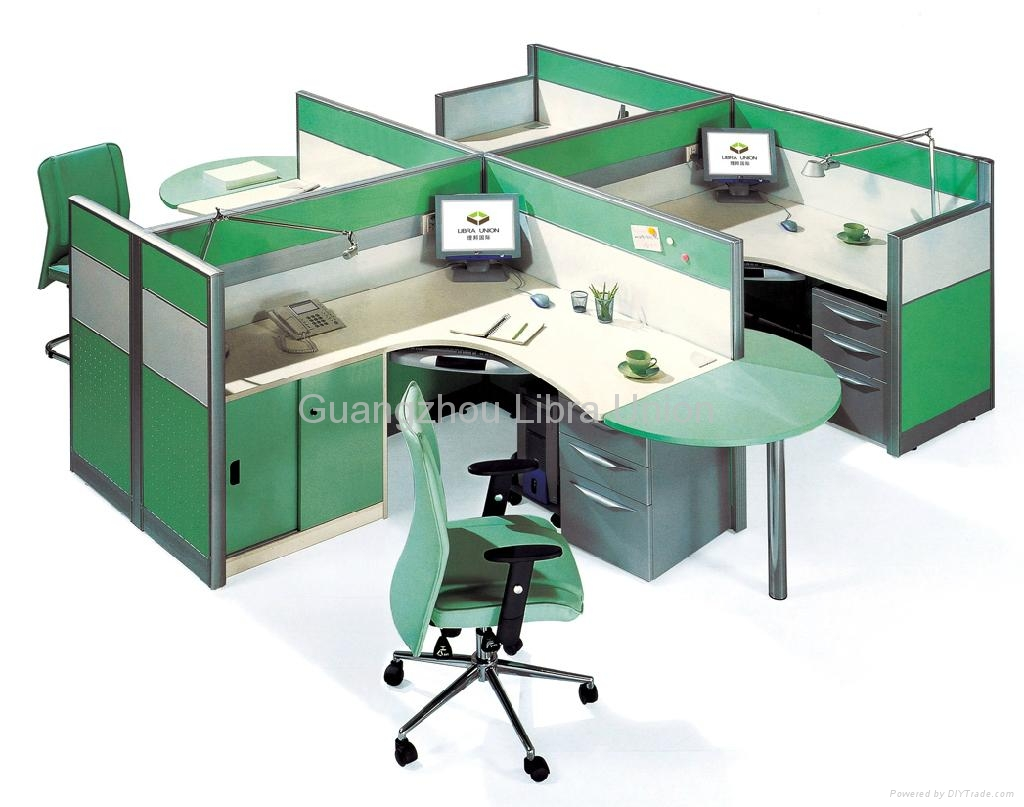 Cubicle Workstations With Overhead