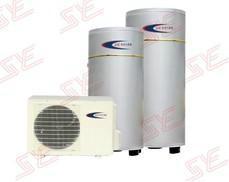 家用空气能热水器100L银色烤