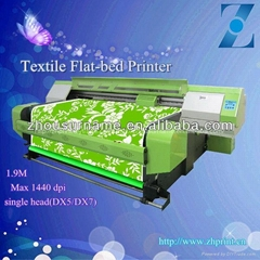 1.9M large format Digital Textile Flat-bed printer with DX5/DX7 single head