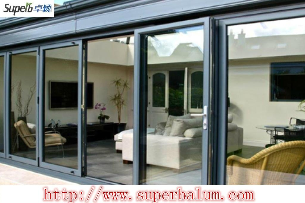 Thermal break aluminium sliding door with double glazed for Double glazed sliding patio doors