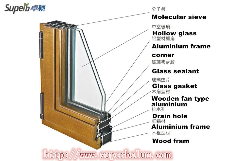 Aluminium clad wood window superb china manufacturer for Buy new construction windows online