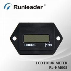RL-HM008 Digital LCD Hour Meter For Diesel Engine, Waterproof AC / DC Powered Ho
