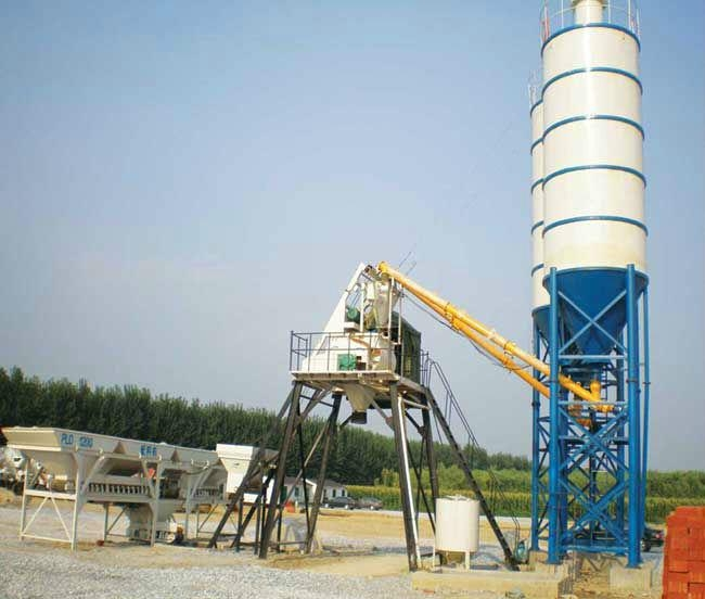 Mini Concrete Batch Plant : M h mini concrete batching plant hzs jianling