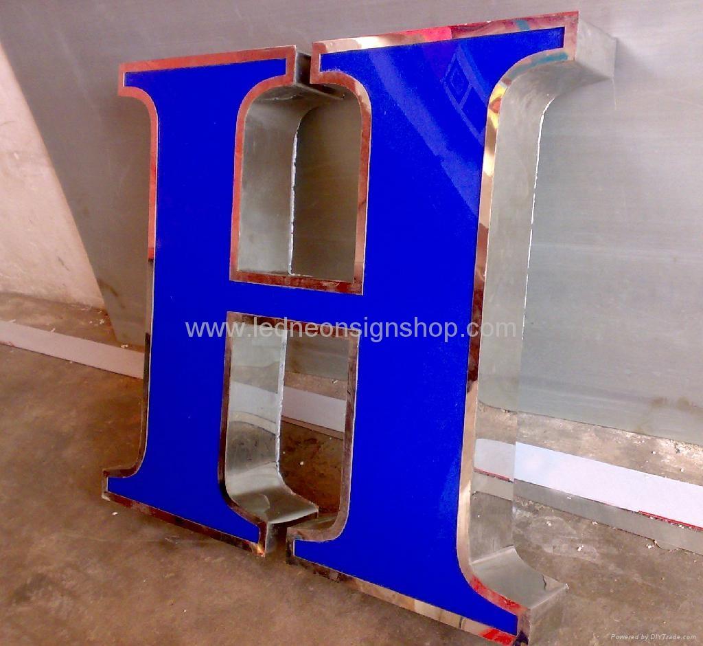Front lit acrylic Led channel letter 1