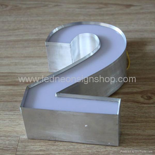 Front lit acrylic Led channel letter 5