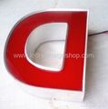Front lit led aluminum letter signs