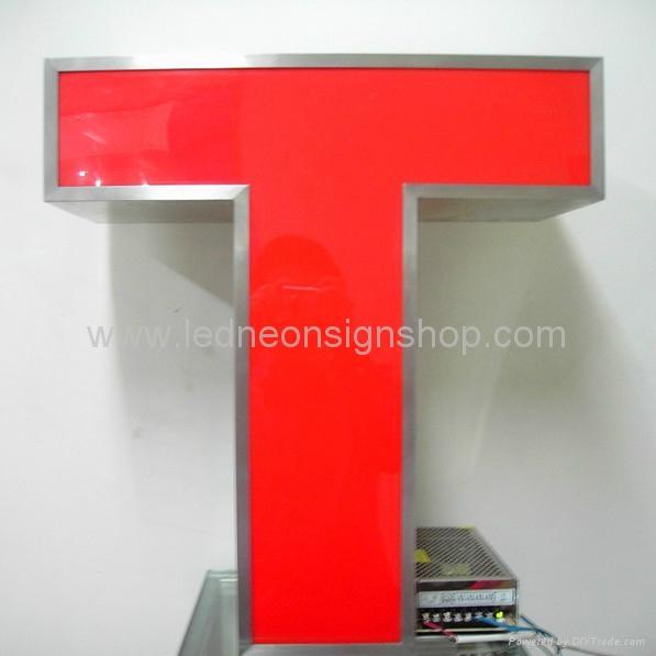 Front lit led aluminum letter signs 2