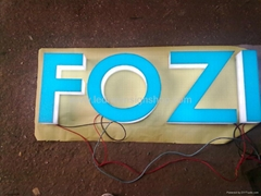 Full lit acrylic letter signs